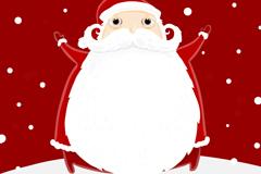 卡通白胡子圣诞老人矢量素材