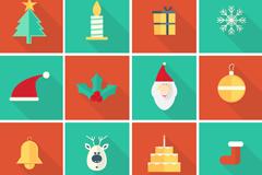 16款创意圣诞图标矢量素材
