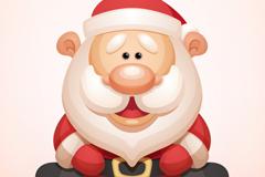 卡通大鼻子圣诞老人矢量素材