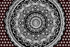 黑白圆形花纹设计矢量素材