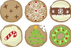 6款美味圣诞饼干矢量素材