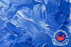 蓝色油彩涂鸦背景矢量素材