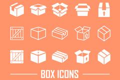 20款白色盒子图标矢量素材