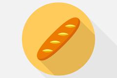 美味法式长棍面包矢量素材