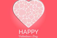 粉色组合爱心贺卡矢量素材