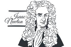 牛顿肖像画设计矢量素材