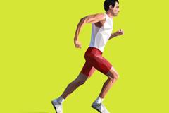 抽象跑步男子设计矢量素材