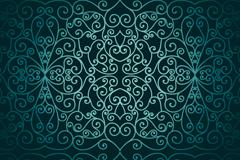 精美阿拉伯式花纹背景矢量素材