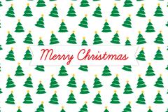 卡通绿色圣诞树无缝背景矢量素材