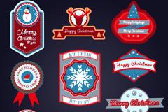 10款红色系圣诞标签矢量素材