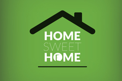 甜蜜的家房屋标志矢量素材