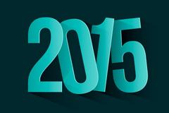 精致蓝绿色2015矢量素材
