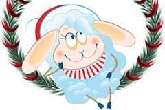 2015可爱长耳绵羊矢量素材