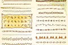 51款手绘花边与边角花纹矢量素材