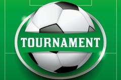 精美足球比赛海报矢量素材