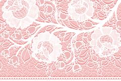 白色蕾丝花卉矢量素材
