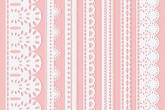 7款白色蕾丝花边设计矢量素材