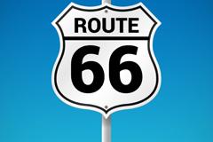 美国66号公路路牌矢量素材
