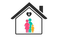 创意房屋家庭标志矢量素材