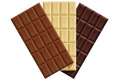 3种美味巧克力矢量素材