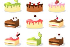 12款美味蛋糕矢量素材
