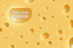 创意奶酪背景矢量素材
