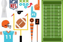 13款美式橄榄球元素设计矢量素材