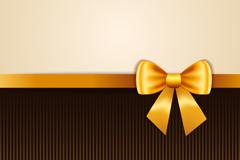 金色蝴蝶结丝带背景矢量素材