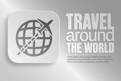 环球旅游标志设计矢量素材