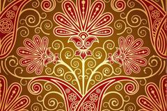 华丽红色花纹背景矢量素材