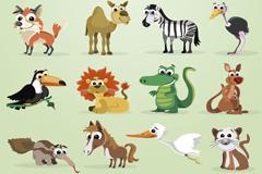 28款家畜和野生动物矢量素材