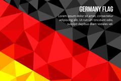 几何形德国国旗背景矢量素材