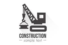 创意建筑施工标志矢量素材