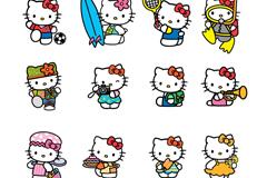 16款卡通凯蒂猫矢量素材