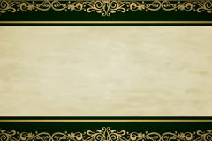 复古金色花纹边框背景矢量素材