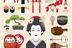 20款日本旅游与文化元素矢量素材