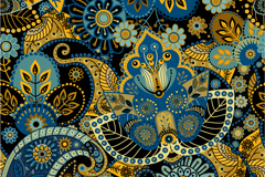 复古民族花纹背景矢量素材