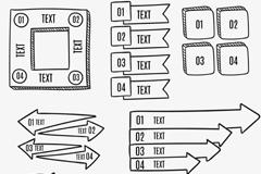 8款手绘信息图元素矢量素材