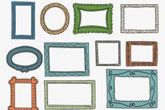 15款彩绘卡通相框设计矢量素材