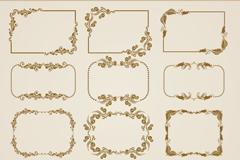 12款复古花纹装饰框矢量素材