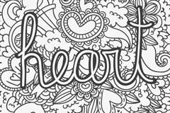 创意黑色爱心涂鸦矢量梦之城娱乐