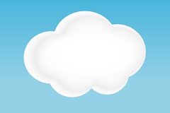 卡通白色云朵矢量素材