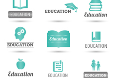 9款清新教育标志矢量素材