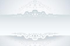 2款白色纸花边设计矢量素材