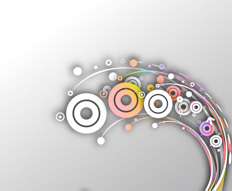 创意动感圆环曲线银河国际平台图片