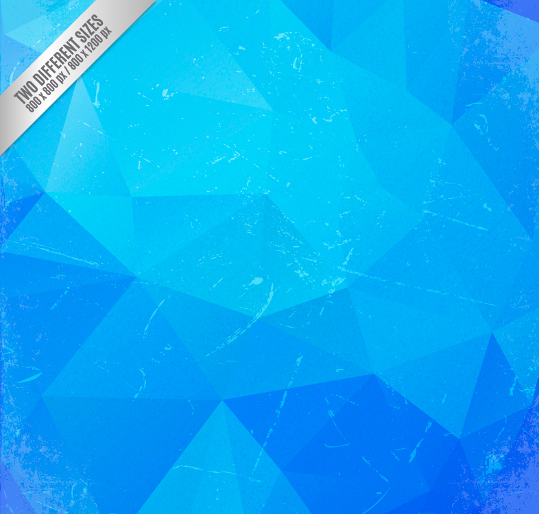 复古蓝色几何形背景