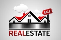 房地产销售标志与吊牌矢量素材