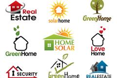 12款创意房地产标志矢量素材
