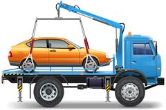 精美拖车和交通标志设计矢量素材