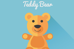 可爱泰迪熊玩具矢量素材